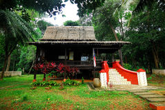 Traditional Malacca House. At Mini Malaysia Cultural Village, Ayer Keroh, Malacca, Malaysia Stock Image