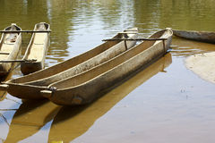 Traditional malagasy boat- canoe, africa Stock Photography