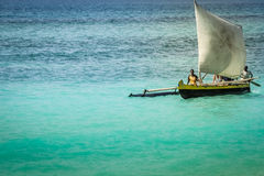 Traditional malagasy boat Royalty Free Stock Photos