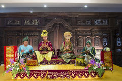 Traditional Malay Bridal Bed. Picture showing Malays Wedding on Traditional bridal bed decoration Stock Photos