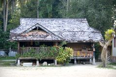 Traditional Malay House Stock Photo