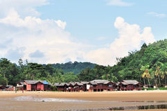 Traditional Malay houses. Used as chalet for tourist near the cherating beach Stock Image
