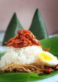Traditional Malaysia Coconut Rice Nasi Lemak Royalty Free Stock Photos