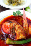 Traditional Malaysia Fish dish called Asam Pedas stock photo