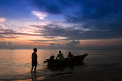 Traditional Malaysian Fisherman Royalty Free Stock Photos