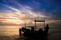 Traditional Malaysian Fisherman Stock Photography