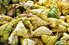 Traditional malaysian food. When celebrating hari raya. This food called ketupat palas Stock Photography