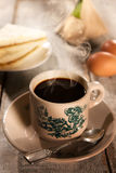 Traditional Malaysian kopitiam coffee and breakfast Stock Photography