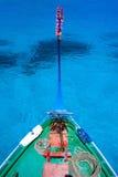 Traditional maldivian boat dhoni. Close up of a traditional maldivian boat dhoni in a tropical ocean Stock Photos
