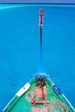 Traditional maldivian boat dhoni. Close up of a traditional maldivian boat dhoni in a tropical ocean Royalty Free Stock Photo