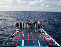 Traditional maldivian fishing Royalty Free Stock Image