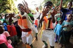 Traditional Malipenga dancers Stock Image