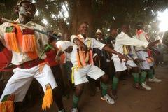Traditional Malipenga dancers Royalty Free Stock Photography
