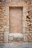 Traditional Mallorca stone wall background texture Stock Image