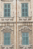 Traditional Maltese architecture in Valletta, Malta.  Stock Images