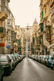 Traditional Maltese architecture. In Valletta, Malta Royalty Free Stock Images