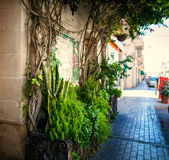 Traditional Maltese architecture. In Valletta, Malta Stock Photography