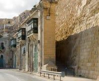 Traditional Maltese architecture in Valletta, Malta Stock Image