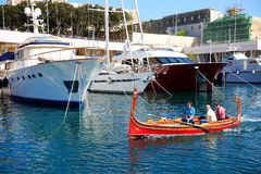 The traditional Maltese boat for tourists cruises Royalty Free Stock Photos