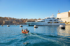 The traditional Maltese boat for tourists cruises Stock Photography