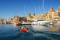The traditional Maltese boat for tourists cruises Royalty Free Stock Image