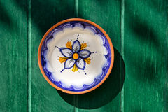Traditional maltese hand-painted plate stock photography