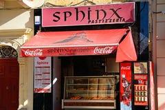 Maltese snack shop, Mosta. Traditional Maltese snack shop in the town centre, Mosta, Malta, Europe Royalty Free Stock Photos