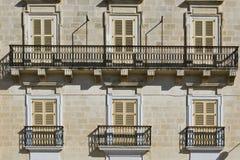 Traditional maltese windows Stock Image