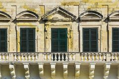 Traditional maltese windows Royalty Free Stock Photography