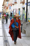Traditional man from the Northern Andes of Peru Stock Image