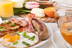 Traditional Manhattan brunch stock photography