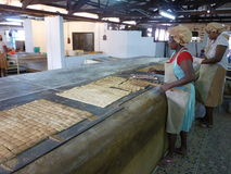 Traditional Manioc Biscuits Fabric Stock Images