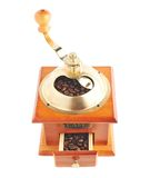 Traditional manual wooden coffee grinder isolated Royalty Free Stock Photography