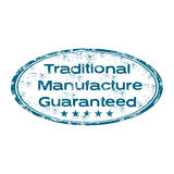 Traditional manufacture guaranteed stamp Stock Images