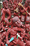 Traditional maori carving Stock Photo