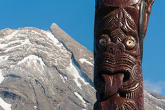Traditional Maori carving Royalty Free Stock Photography