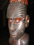 Traditional maori carving, New Zealand Stock Photo
