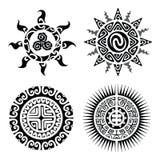 Traditional Maori Taniwha tattoo Royalty Free Stock Photos