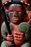 Traditional Maori Toi whakairo art carving Royalty Free Stock Photo