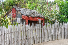 Traditional Maori village Stock Photos