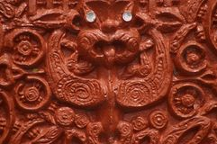 Traditional Maori wood carving Royalty Free Stock Images