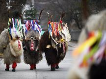 Traditional Mardi Gras Costume From Slovenia Europe: Kurent. Royalty Free Stock Photography