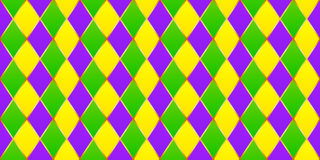 Traditional Mardi Gras vector seamless pattern Stock Photos