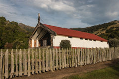 Traditional Marea in Onuku on Banks Peninsula. In New Zealand stock photography