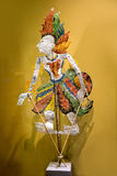 A traditional marionette Wayang Kulit or shadow puppet. stock photos