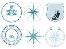 Traditional maritime labels Stock Image