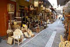 Traditional market. Traditional art and handmade objects stock images
