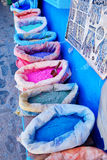 Traditional market in Chefchaouen, Morocco Stock Photos
