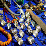 Traditional market in Chefchaouen, Morocco Royalty Free Stock Images