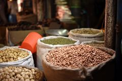 Traditional market ingredient commodities south kalimantan royalty free stock photography
